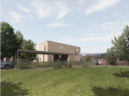 Kozlany - dům na kopci