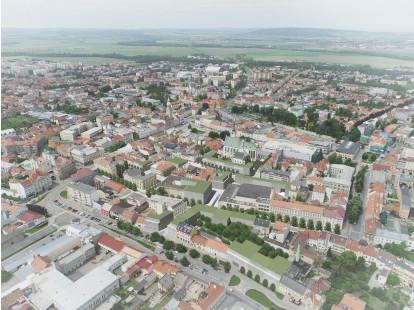 Jižní část centra Prostějova